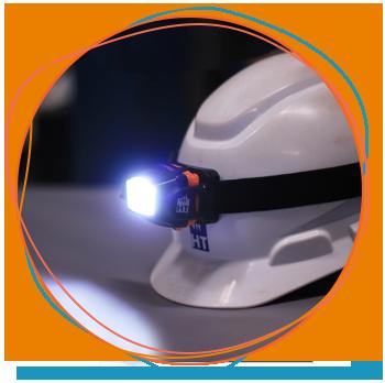 Lanterna de cabeça para eletricista da HT Instruments para segurança elétrica