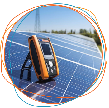 Instrumento de medição HT Instruments para segurança elétrica fotovoltaica