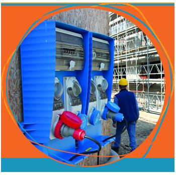 Quadro de comando elétrico Palazzoli para segurança elétrica