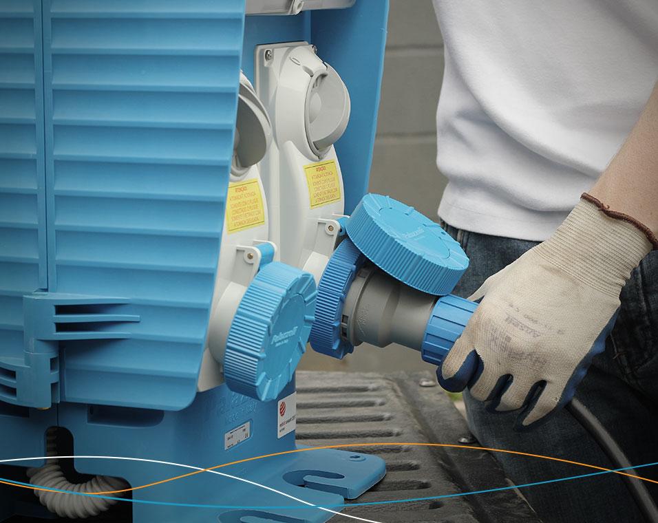 Tomadas de bloqueio mecânico da Palazzoli para eficiência energética na indústria